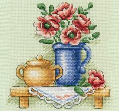 Панна | Цветы в кувшине. Размер - 17 х 17 см