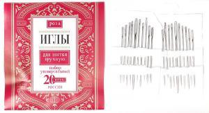 """Иглы для ручного шитья """"Роза"""" арт.9101/4, уп.20 игл"""