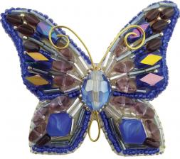 """Набор для изготовления броши Crystal Art """"Мотылёк"""". Размер - 8 х 6 см"""
