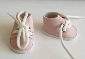 Ботиночки ручная работа,кожзам,цвет розовый,5 см