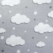 Ткань ранфорс Облака, 130г/м²,100% хлопок, шир.240см, цв.серый, рул.3м