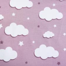 Ткань ранфорс Облака, 130г/м²,100% хлопок, шир.240см, цв.пыльная роза, рул.3м
