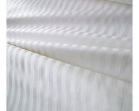 Ткань сатин Cтрайп гладкий Полоска 1х1 см, 125г/м², 100% хлопок, шир.240см, цв.белоснежный, уп.3м