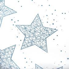 Ткань сатин Звезды, 120г/м², 100% хлопок, шир.220см, цв.белый