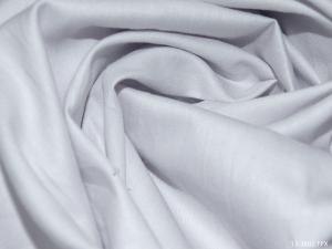 Ткань сатин гладкокрашеный, 120г/м², 100% хлопок, шир.220см, цв.нежно-серый уп.3м