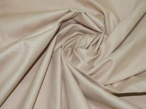Ткань сатин гладкокрашеный, 120г/м², 100% хлопок, шир.220см, цв.какао уп.3м