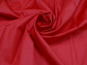 Ткань сатин гладкокрашеный, 120г/м², 100% хлопок, шир.220см, цв.красный уп.3м