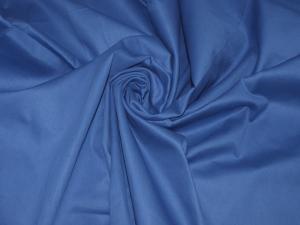 Ткань сатин гладкокрашеный, 120г/м², 100% хлопок, шир.220см, цв.джинса уп.3м