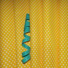 Ткань хлопок Горошек средний, 120г/м², 100% хлопок, шир.150см, цв.01 жёлтый уп.3м