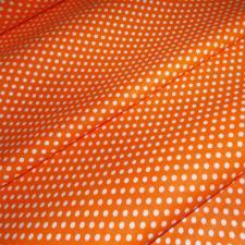Ткань хлопок Горошек средний, 120г/м², 100% хлопок, шир.150см, цв.09 оранжевый уп.3м