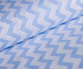 Ткань хлопок ЗигЗаг, 120г/м², 100% хлопок, шир.150см, цв.03 голубой уп.3м