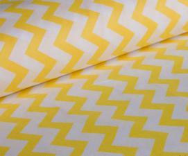 Ткань хлопок ЗигЗаг, 120г/м², 100% хлопок, шир.150см, цв.08 жёлтый уп.3м