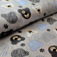 Ткань хлопок Медвежата, 125г/м², 100% хлопок, шир.150см, уп.3м
