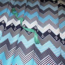 Ткань хлопок Морская, 120г/м², 100% хлопок, шир.150см, цв.03 голубой уп.3м