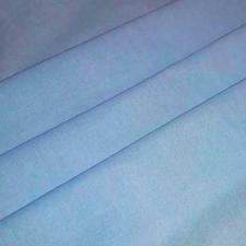 Ткань лён гладкокрашеный, 140г/м², 30% лен + 70% хлопок, шир.150см, цв.20 голубой уп.3м