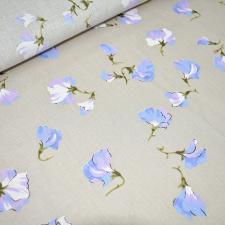Ткань лён Цветущий горошек, 125г/м², 30%лён+70%хлопок, шир.150см, цв.натуральный уп.3м