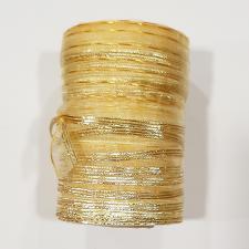 """Лента капроновая """"Розочка"""" арт.с3561г17 рис.8422 с метанитом шир. 10 мм цв.св.жёлтый-золото"""