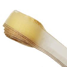 """Лента капроновая """"Розочка"""" арт.с3562г17 рис.8450 с метанитом шир. 30 мм цв.светло-жёлтый-золото"""