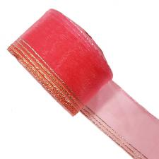 "Лента капроновая ""Розочка"" арт.с3562г17 рис.8450 с метанитом шир. 30 мм цв.светло-розовый-золото"