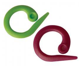 """Knit Pro Маркировщик для петель """"Круг"""", пластик, зелёный/красный, уп.30шт"""