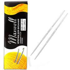 Крючок для вязания Maxwell №2/0-3/0 двусторонний 2,1 мм- 2,3 мм цв.никель