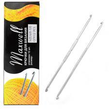 Крючок для вязания Maxwell №6/0-7/0 двусторонний 3,0 мм- 3,2 мм цв.никель