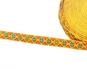 Лента отделочная жаккардовая арт.с1851г17 рис.9303 шир. 18мм цв. жёлтый