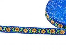 Лента отделочная жаккардовая арт.с1851г17 рис.9303 шир. 18мм цв. синий