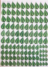 Заготовка для аппликаций на ткани (листья сирени) ОАР-14,А3