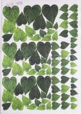 Заготовка для аппликаций на ткани (листья подсолнуха) ОАР-20