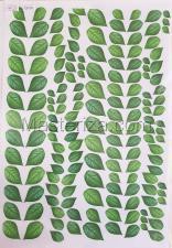 Заготовка для аппликаций на ткани (листья сирени) ОАР-21,А3
