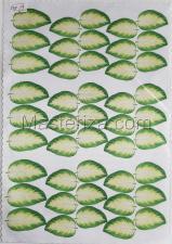Заготовка для аппликаций на ткани (листья) ОАР-59
