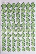 Заготовка для аппликаций на ткани (листья фиалки) ОАР-60