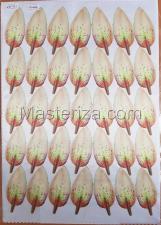 Заготовка для аппликаций на ткани (лепестки лилии) ОАР-66-1