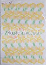 Заготовка для аппликаций на ткани (лепестки розы) ОАР-70-10,А4