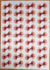 Заготовка для аппликаций на ткани (лепестки мака) ОАР-72