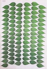 Заготовка для аппликаций на ткани (листья) ОАР-104,А3