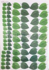 Заготовка для аппликаций на ткани (листья подсолнуха) ОАР-106-3,А3