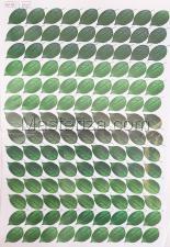Заготовка для аппликаций на ткани (листья розы) ОАР-109-1,А3