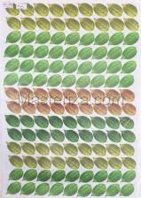 Заготовка для аппликаций на ткани (листья розы) ОАР-109-4,А3