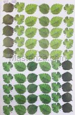 Заготовка для аппликаций на ткани (листья малины и смородины) ОАР-111,А3