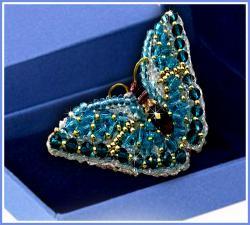 Образа в каменьях | Брошь Бабочка Циркон. Размер - 7,5 х 3,5 см