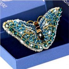 Образа в каменьях | Брошь Бабочка Циркон (Swarovski). Размер - 7,5 х 3,5 см