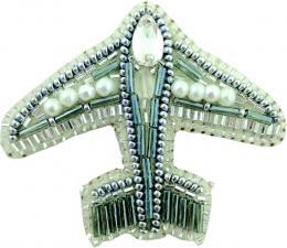 """Набор для изготовления броши Crystal Art """"Самолёт"""". Размер - 7 х 6 см."""