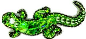 """Набор для изготовления броши Crystal Art """"Ящерица"""". Размер - 10 х 4,5 см"""