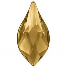"Стразы неклеевые ""SWAROVSKI"",10 х 8 мм,золото (light colorado topaz 246),1 шт"