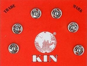"""Кнопки пришивные, металл, """"KOH-I-NOOR"""", d 5 мм, цвет никель, 6 шт"""