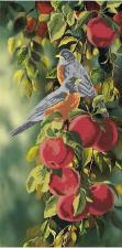 Астрея   Схема Птички на яблоках. Размер - 30 х 60 см