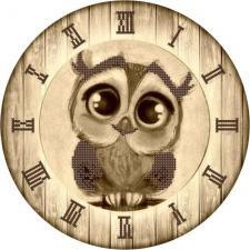 "Астрея   Схема Часы ""Сова"". Размер - 25 х 25 см"