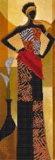 Астрея   Схема Африканский стиль 1. Размер - 14 х 40 см